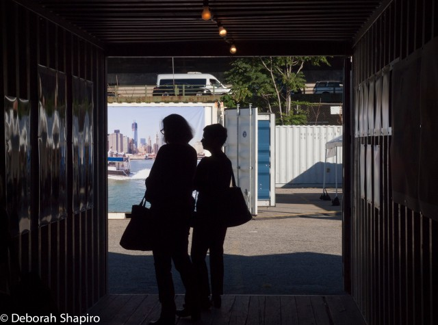Photos in a shipping container