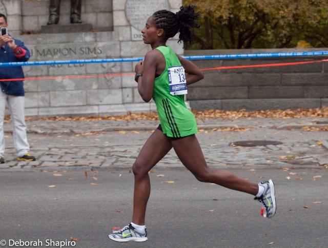 Tigist Tufa finished second