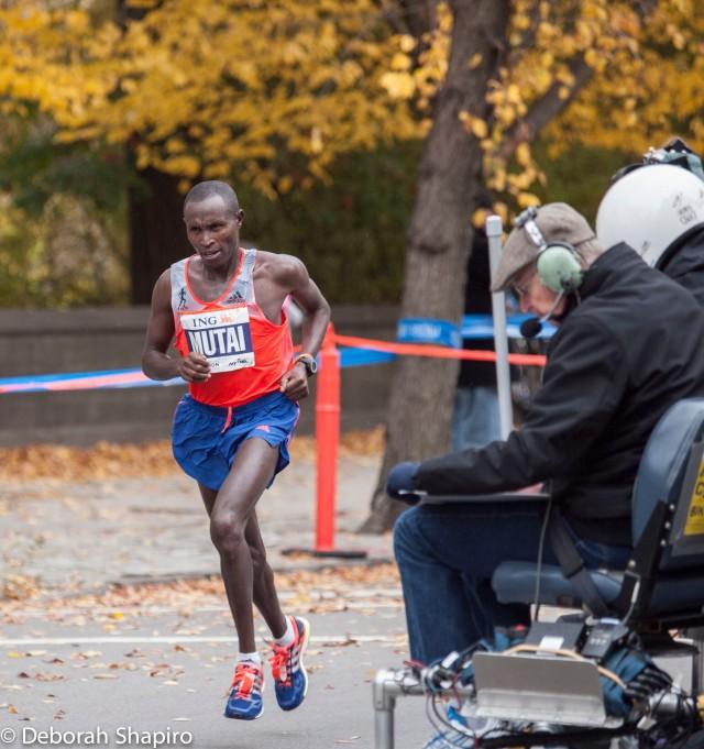 Men's winner Geoffrey Mutai