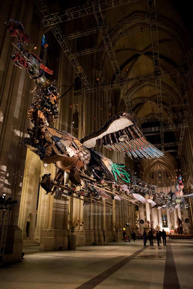 Sculpture by Xu Bing at the Cathedral of St John the Divine