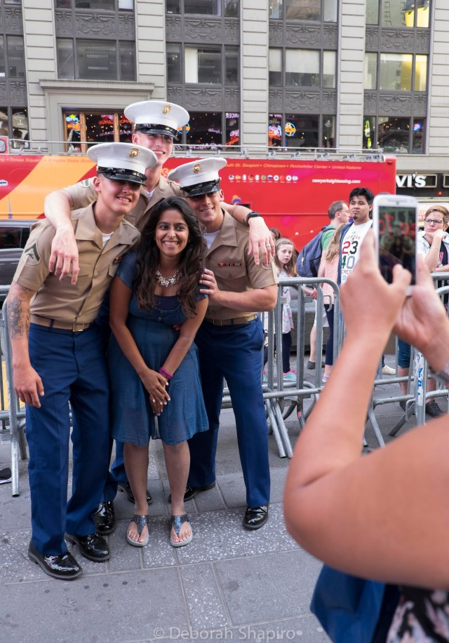 Have your picture taken with Marines