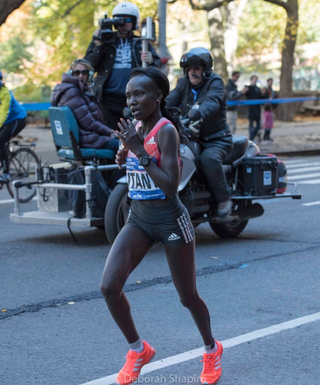 Mary Keitany cruising to her third New York Marathon victory