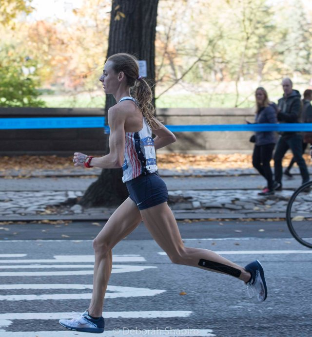 US runner Molly Huddle took third place