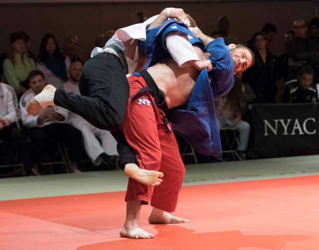 US Olympic silver medalist Travis Stevens throwing for Ippon, New York Open 2016