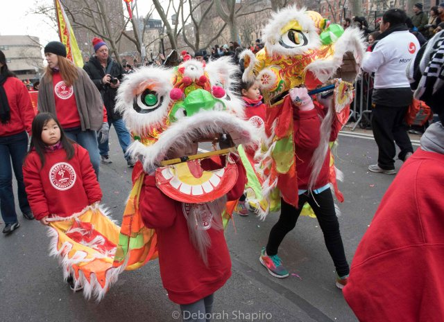 The P.S. 130 Lion Dance Team